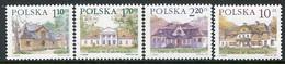 POLAND 1997 Definitive: Manor Houses MNH / **  Michel .3651-54 - Ongebruikt