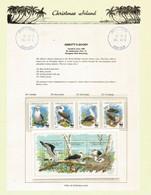 WWF.Abbott's Booby,endangered Seabird On Official Christmas Island Presentation Sheet. Rare-Scarce.MS + Set MNH ** - Nuevos