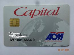 CARTE A PUCE CHIP CARD CARTE FIDÉLITÉ  CAPITAL AOM TRANSPORT - Gift And Loyalty Cards