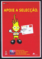 """Gc5884 PORTUGAL Selection 2002 JAPAN Mascote TUGA Affiche Publicitaire """"advertising Poster Coming New Issue Stamps"""" RARE - 2002 – Corea Del Sud / Giappone"""