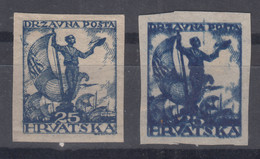 Yugoslavia, Kingdom SHS, Issues For Croatia 1919 Mi#93 U Imperforated, Mint With Full Intact Gum And Double Print Mng - Nuovi