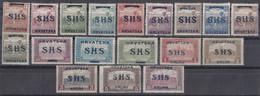 Yugoslavia Kingdom SHS, Issues For Croatia 1918 Harvesters And Parliament Mi#66-75 And Mi#76-83 Mint Hinged - Nuovi