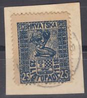 Yugoslavia, Kingdom SHS, Issues For Croatia 1918 Mi#53 Used - Usati