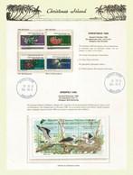Abbott's Booby,endangered Seabird On Official Christmas Island Presentation Sheet. Rare-Scarce.MS + Set MNH ** - Marine Web-footed Birds