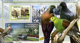 Guinea Bissau 2007, Animals, Birds And Scout, Pigeons, BF - Columbiformes