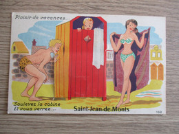 85 SAINT JEAN DE MONTS FANTAISIE A SYSTEME SOULEVEZ LA CABINE ..FEMME MAILLOT DE BAIN - Saint Jean De Monts