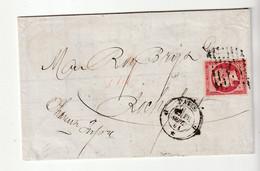 Lettre Avec Classiques De France: Napoléon N°17B, Oblitération Paris - Rochefort, 1861 - 1853-1860 Napoleon III