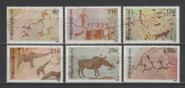 (S2686) ZIMBABWE, 1982 (Rock Paintings). Complete Set. Mi ## 259-264. Used - Zimbabwe (1980-...)