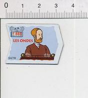 Magnet Le Gaulois Inventions 1888 Découverte Des Ondes Hertz Portrait Mag12 - Magnets