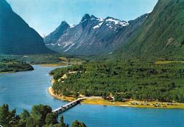 1 AK Norwegen * Campinganlage Bei Åndalsnes - Im Hintergrund Die Berge Bishop - King Und Queen * - Norwegen