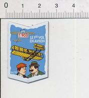 Magnet Le Gaulois Inventions 1903 Premier Vol En Avion Frères Wilbur & Orville Wright Mag12 - Magnets