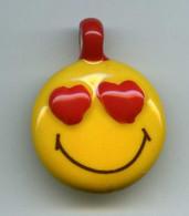 FEVES - FEVE - PENDENTIF SMILEY - YEUX EN COEURS - Autres
