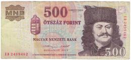 Billet, Hongrie, 500 Forint, 2013, KM:196c, TB - Ukraine