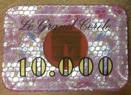75 PARIS CASINO LE GRAND CERCLE PLAQUE DE 10.000 FRANCS N° 00303 JETON TOKENS COINS CHIPS - Casino