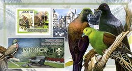 Guinea Bissau 2007, Animals, Birds And Scout, Pigeons, BF IMPERFORATED - Columbiformes
