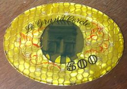 75 PARIS CASINO LE GRAND CERCLE PLAQUE DE 500 FRANCS N° 00959 JETON TOKENS COINS CHIPS - Casino