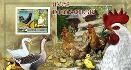 Guinea Bissau 2007, Animals, Chicken, Goose, And Scout, Hen, Geese, BF IMPERFORATED - Geese