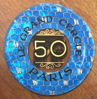 75 PARIS CASINO LE GRAND CERCLE PLAQUE DE 50 FRANCS N° 01460 JETON TOKENS COINS CHIPS - Casino
