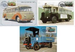 France 2003 3 Maximum Card Transport Bus Truck Traffic Sign - Otros (Tierra)