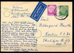 F1197 - BUND - Ganzsache P26 Mit Zus.Frank. 179, Portogerechte Luftpostkarte Euskirchen > Berlin - Cartes Postales - Oblitérées