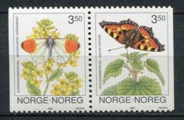 Norwegen Norway Norge Mi# 1114-5 Postfrisch/MNH - Fauna Butterflies - Ongebruikt