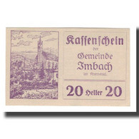 Billet, Autriche, Imbach N.Ö. Gemeinde, 20 Heller, Texte 2, 1920, 1920-12-31 - Autriche