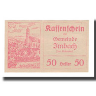 Billet, Autriche, Imbach N.Ö. Gemeinde, 50 Heller, Texte, 1920, 1920-12-31 - Autriche