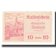 Billet, Autriche, Imbach N.Ö. Gemeinde, 10 Heller, Texte, 1920, 1920-12-31 - Autriche