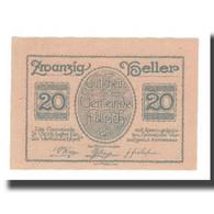 Billet, Autriche, St. Ulrich O.Ö. Gemeinde, 20 Heller, Batiment, 1920 - Autriche