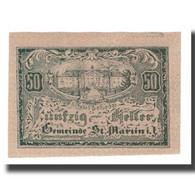 Billet, Autriche, St. Martin Im Innkreis, 50 Heller, Texte, 1920, 1920-04-09 - Autriche