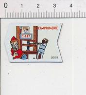Magnet Le Gaulois Inventions 1437 Invention De L'imprimerie Gutenberg Presse à Vis  Mag14 - Magnets