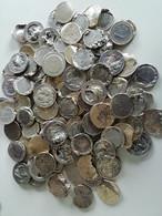 Vrac, Lot De 2 Kilos Pièces Euros Endommagées. Idéal Pour Création Bijoux Ou Objets Insolites. - Lots & Kiloware - Coins
