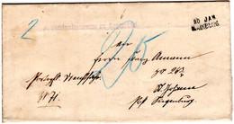 Bayern 1895, Aushilfstpl. MAINBURG Auf Porto Brief V. Forstamt Appersdorf - Bavaria