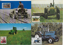 Romania Liechtenstein China And Bophuthatswana 1982 / 1989 4 Maximum Card Transport Tractor Agriculture - Altri (Terra)