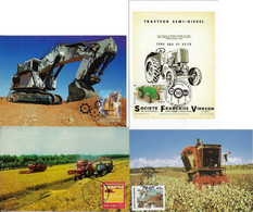 France Australia China And Bophuthatswana 1988 / 2008 4 Maximum Card Transport Tractor Agriculture - Altri (Terra)