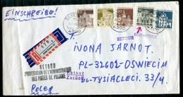 X075 - BUND-Postkrieg - Mi.499 U.a. Auf R-Brief Essen > Polen Und Zurück - Siehe Scans - Covers