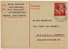 1951, GSK 20 Pfg. Bundestag, Zu Spät Verwendet!, A 5234 - Cartes Postales - Oblitérées