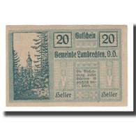 Billet, Autriche, Lambrechten O.Ö. Gemeinde, 20 Heller, Texte, 1920 - Autriche