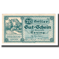 Billet, Autriche, Texing N.Ö. Gemeinde, 20 Heller, N.D, 1920, 1920-10-15, SUP - Autriche