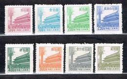 "China P.R. 1954 , "" Regulars Tien An Men "", Mi. 230 - 237 Ungebraucht / MNH / Neuf - Ongebruikt"