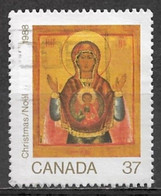 Canada 1988. Scott #1222 (U) Christmas, Icon Of The Eastern Church, Conception - Used Stamps