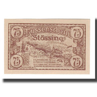 Billet, Autriche, Stössing Prv. Ortsschulrat, 75 Heller, Texte, 1920 - Autriche