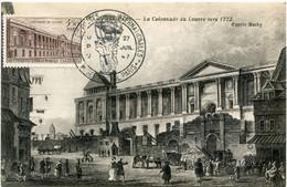 FRANCE CARTE MAXIMUM DU N°780 COLONNADE DU LOUVRE A PARIS AVEC OBLITERATION ILLUSTREE EXPOSITION UPU 27 JUIL 47 PARIS - 1940-49