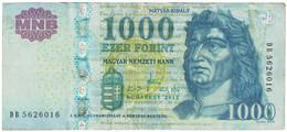 Billet, Hongrie, 1000 Forint, 2012, TB - Ukraine