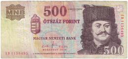 Billet, Hongrie, 500 Forint, 2010, KM:196c, TB - Ukraine