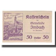 Billet, Autriche, Imbach N.Ö. Gemeinde, 50 Heller, Texte 2, 1920, 1920-12-31 - Autriche