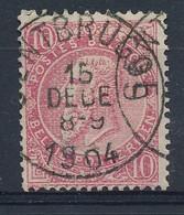 Nr  58   Met Stempel  Gentbrugge - 1893-1800 Fijne Baard