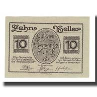 Billet, Autriche, St. Ulrich O.Ö. Gemeinde, 10 Heller, Paysage, 1920 - Autriche