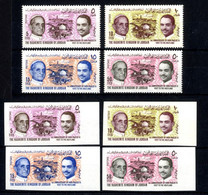 Jordanien 1964 - MiNr. 532-535 A / B Postfrisch - Papst Paul IV. / Hussein II. - Jordanië