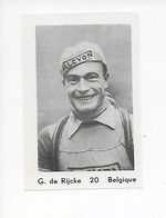 Wielrenner- Coureur Cycliste-G.DE RIJCKE -20 - Cycling